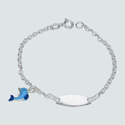 Pulsera Piocha Delfín Esmaltado 16 cm