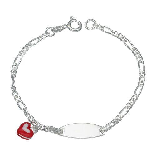 Pulsera Piocha Cartier Corazón Esmaltado 16 cm