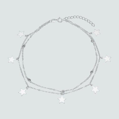 Tobillera Doble Estrellas y Circones