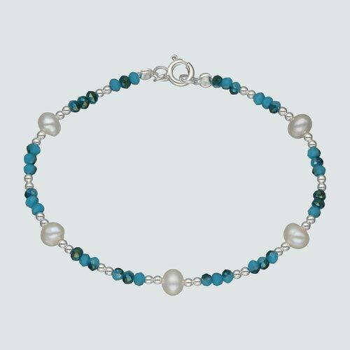 Pulsera Esferas Perlas Cristales Multicolor