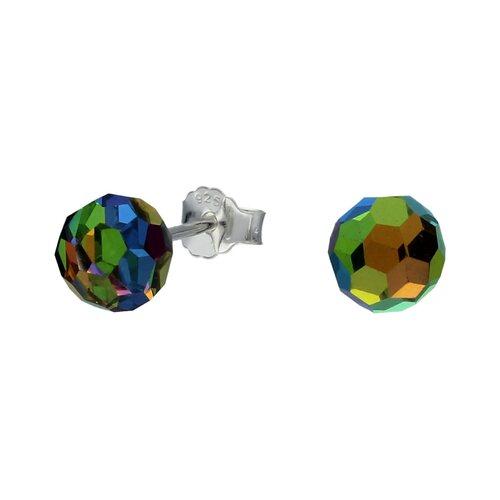 Aro Esfera Facetada Hecho con Cristal Swarovski® Tornasol 6 mm