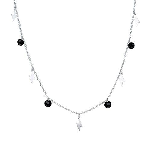 Collar Rayos Cristales Negro