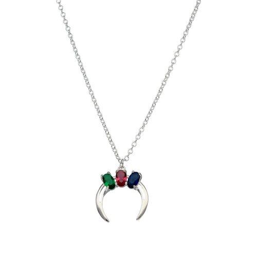 Collar Luna Invertida Circones Multicolor