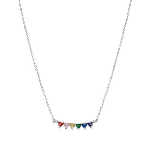Collar Triángulos Circones Multicolor