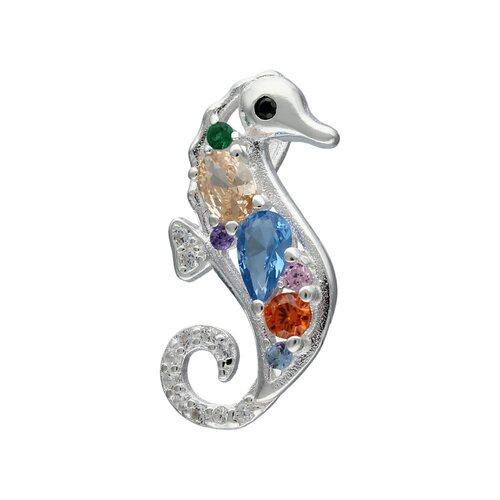 Colgante Caballo de Mar Cristales Multicolor