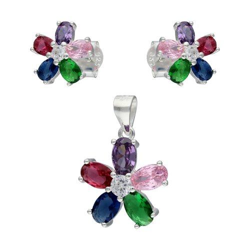 Conjunto Flor Circones Multicolor