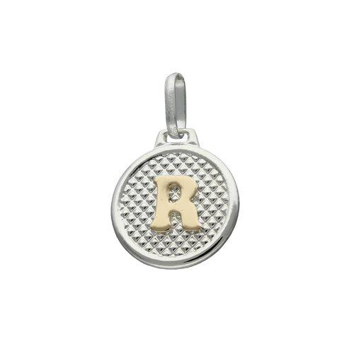 Colgante Circular Letra R en Oro