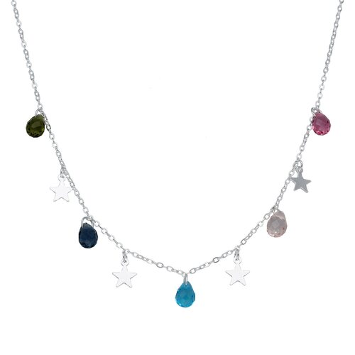 Collar Estrellas Cristales Hecho con Swarovski® Multicolor