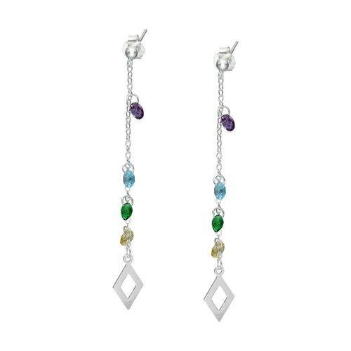 Aro Cristales Hecho con Swarovski® Multicolor Rombos