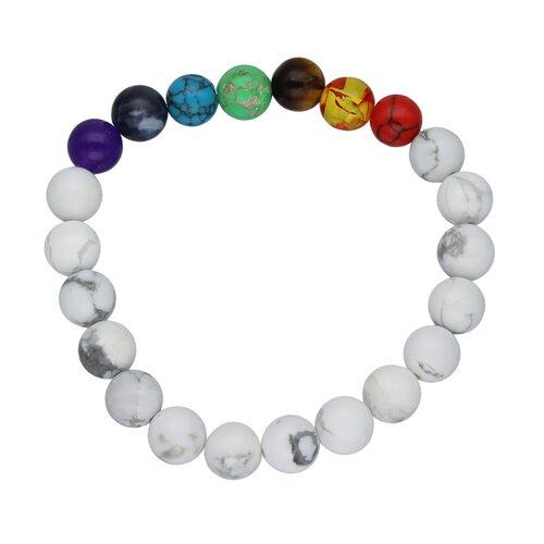 Pulsera Elástica Esferas Cristales 7 Chakras