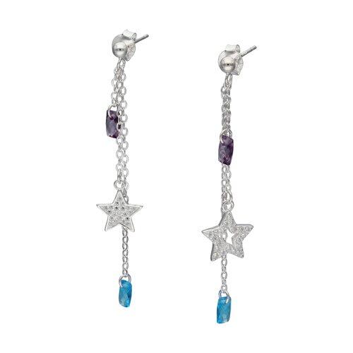 Aro Desigual Estrella Circones Cristales Hecho con Swarovski®