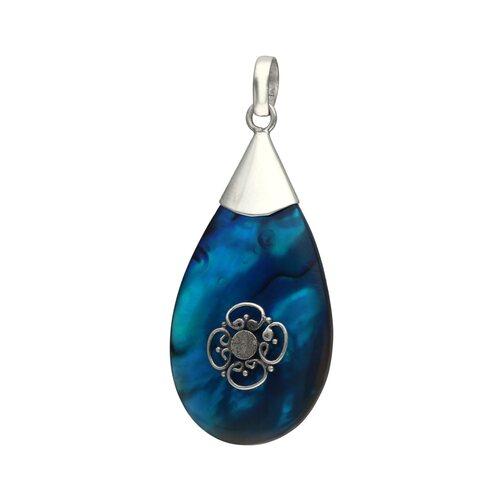 Colgante Gota Abalon Azul
