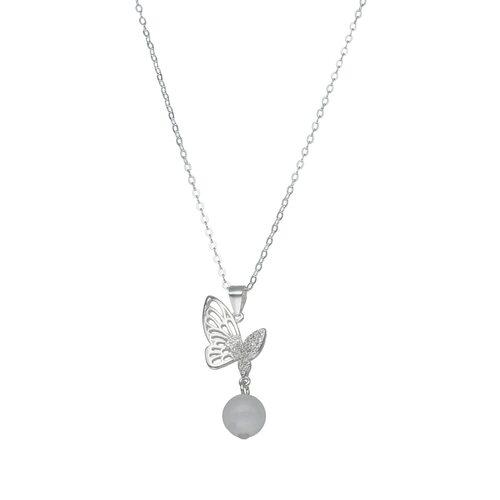 Collar Mariposa Circones Piedra Luna