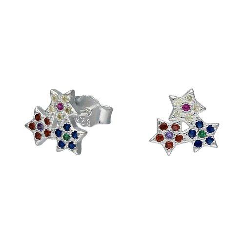 Aro Estrellas Circones Multicolor