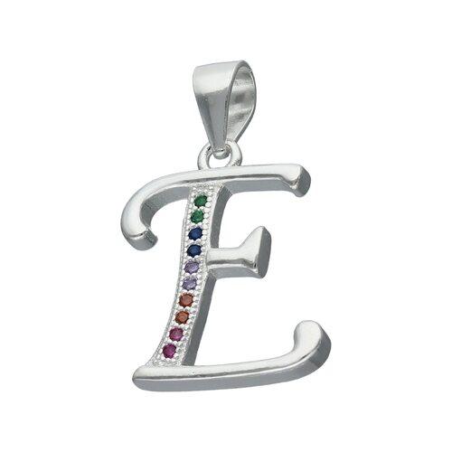 Colgante Letra E con Circones Multicolor