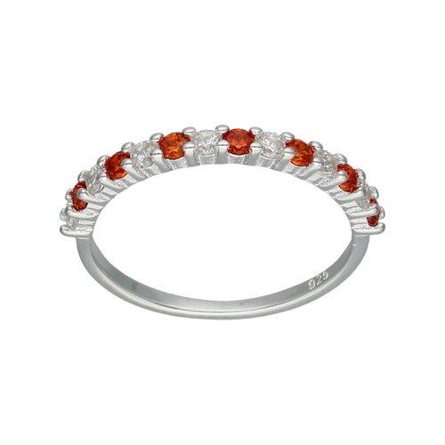 Anillo Cintillo Circones Granate Naranja