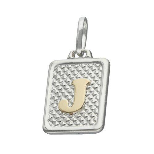 Colgante Rectangular Letra J en Oro