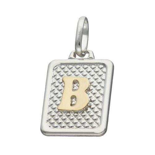 Colgante Rectangular Letra B en Oro