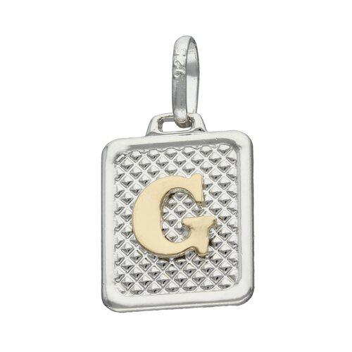 Colgante Rectangular Letra G en Oro