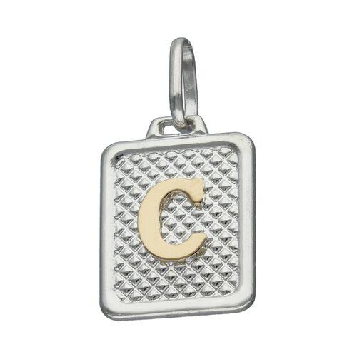 Colgante Rectangular Letra C en Oro