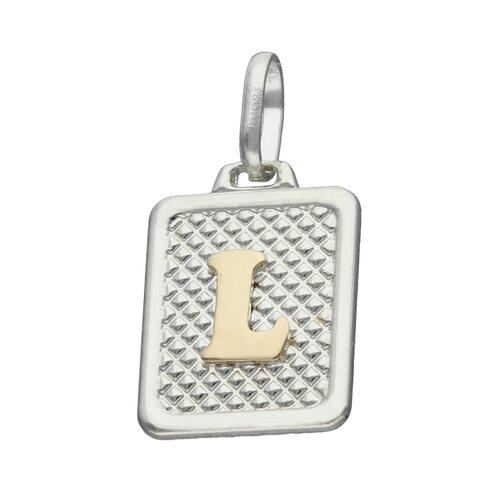 Colgante Rectangular Letra L en Oro