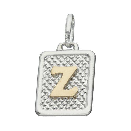 Colgante Rectangular Letra Z en Oro