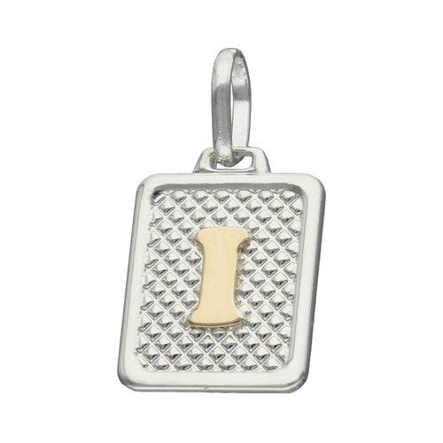 Colgante Rectangular Letra I en Oro