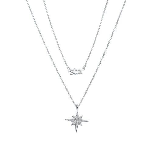 Collar Doble Estrella Fugaz Circones