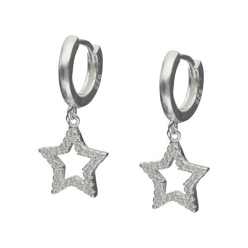 Argolla Huggie Estrella Circones 11 mm