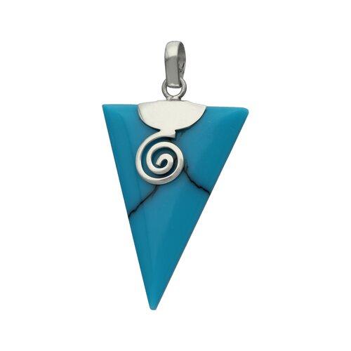 Colgante Triangulo Turquesa con Espiral