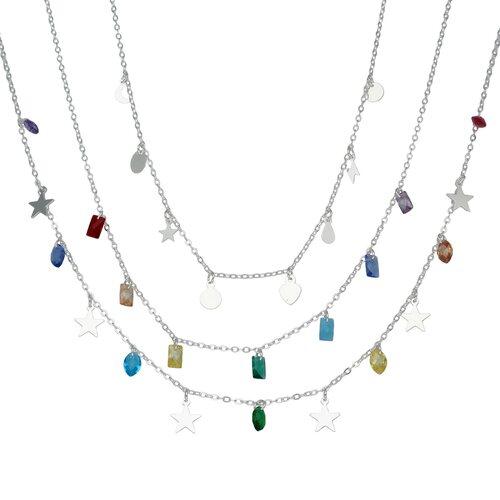Collar Estrellas y Cristales Hecho con Swarovski® Multicolor
