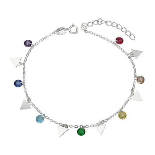 Pulsera Triángulos Cristales Hecho con Swarovski® Multicolor