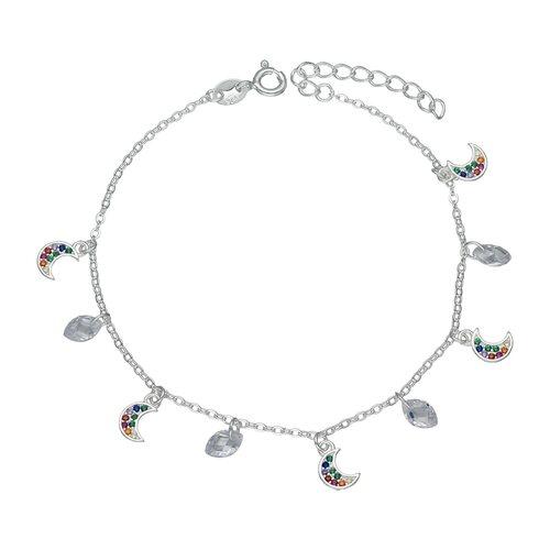 Pulsera Media Luna Circones Multicolor y Cristales Hecho con Swarovski®