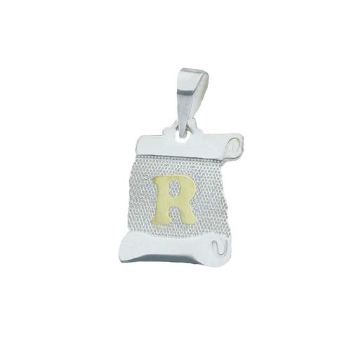 Colgante Pergamino, Letra R en Oro