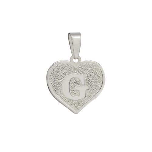 Colgante Corazón Letra G