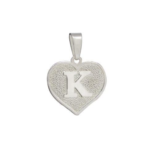 Colgante Corazón Letra K