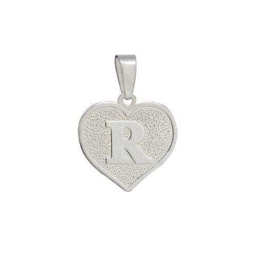 Colgante Corazón Letra R