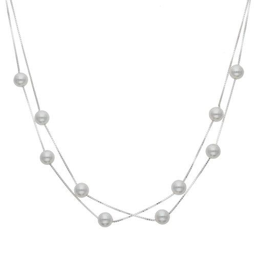 Collar Doble Veneciano con Perlas