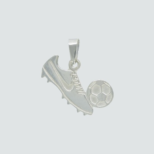 Colgante Zapato con Pelota de Fútbol