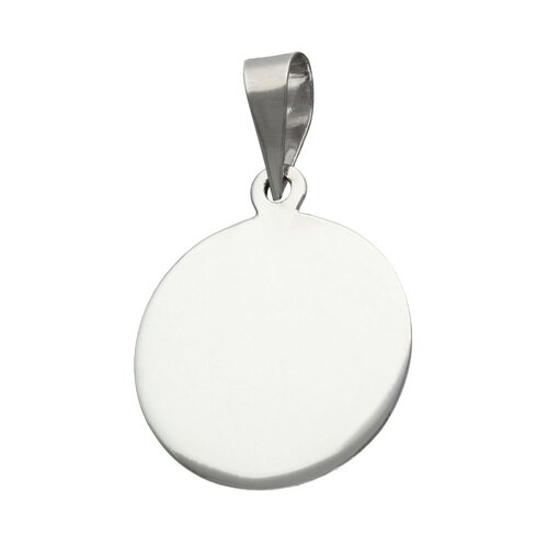 Colgante Placa Circular Mediana 21 mm