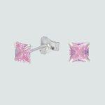Aro Circón Rosa Francia 4x4 mm