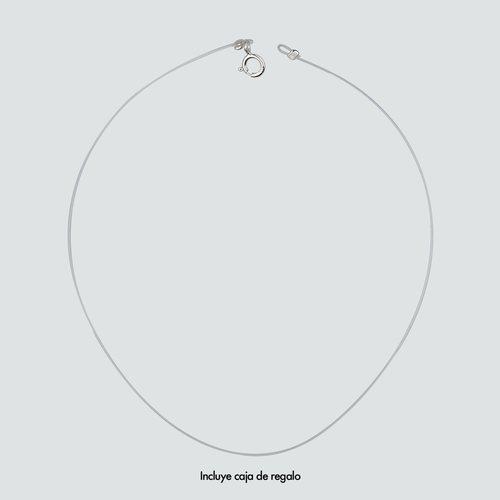 Collar Silicona Broche de Plata