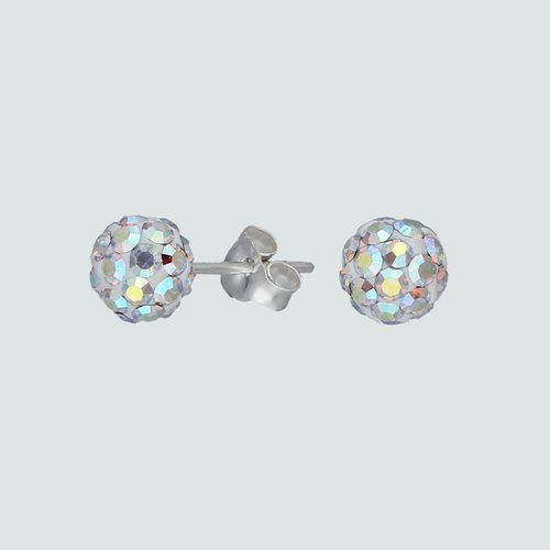 Aro Esfera Cristales Tornasol 6 mm