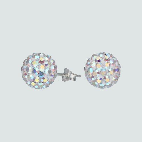 Aro Esfera Cristales Tornasol 8 mm