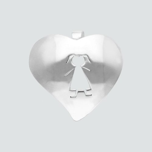 Colgante Corazón Niña