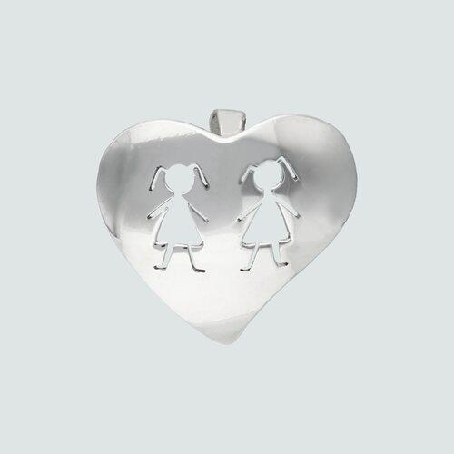 Colgante Corazón Niña-Niña