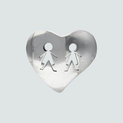 Colgante Corazón Niño-Niño